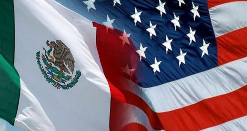 bandera de mexico y estados unidos