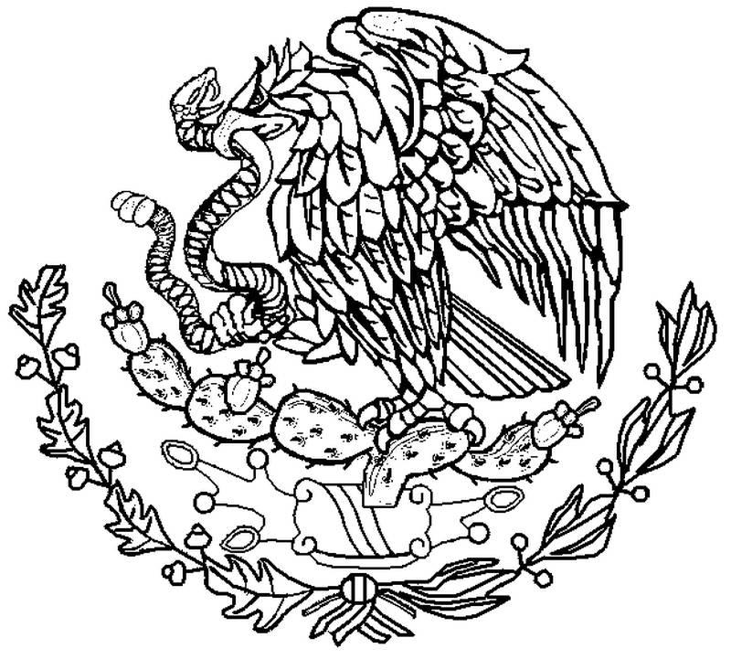 escudo mexicano para colorear